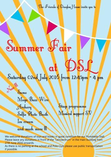 Invitation Summer Fair 2016
